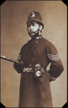 "Rutland Barrington as the Sergeant of Police in the original London production of ""The Pirates of Penzance"" in 1880."
