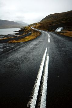 Long winding road  (iceland) by   João Almeida