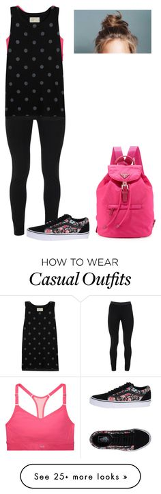 """""""Casual"""" by izelaixchel on Polyvore featuring Victoria's Secret, Peace of Cloth, Current/Elliott, Vans and Prada"""