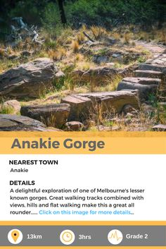 Anakie Gorge, a delightful day hike in Melbourne, AU. Melbourne Au, Day Hike, Walks, Hiking, Explore, Outdoor, Image, Outdoors, Outdoor Games