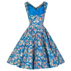 Ophelia Sky Blue Swing Dress | Vintage Inspired Fashion - Lindy Bop