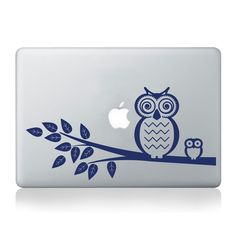 Owl with Baby Bird on Branch with Leaves Vinyl Decal - fits cars, trucks, apple or pc laptops, window sticker K607 by KrittahStickers on Etsy