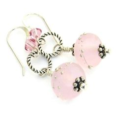 If you are looking for a particularly feminine pair of handmade, pastel pink earrings, you have found them in these PERFECTLY PINK lampwork and sterling silver beauties, earrings that are so well name
