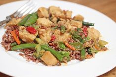 Orange Ginger Chicken Stir-Fry ~ part of our 31 Days of Skillet Dinner Recipes | 5DollarDinners.com