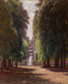 Aleksander Gierymski, Villa Torlonia we Frascati, między 1895 a własność: MNK Subic, 8th Of March, Parks, 19th Century, Villa, Country Roads, Nature, Oil Paintings, Landscapes
