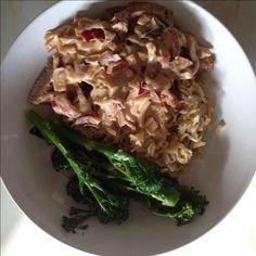 Pork Marsala with Mushroom Rice and Broccoli with Lemon and Parmesan