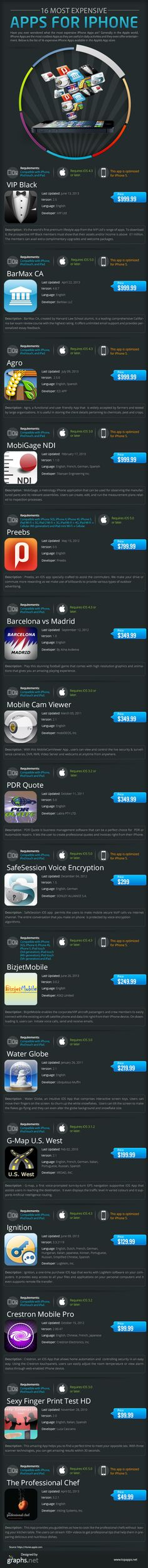 16 Most Expensive Apps For iPhone [Infographic]
