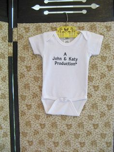 Personalized Unisex Baby One Piece Mom and Dad Production Bodysuit Unisex Baby Shower Gift on Etsy, $12.00