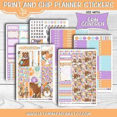 Woodland Planner Stickers Erin Condren Planner Stickers