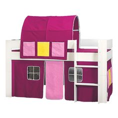 KIDS World Tunnel In Pink - The Kids World Tunnel in a variety of colours fits snugly to your child's single or bunk bed transforming it to a fantastic play and adventure area for any youngster and is ideal for where space is limited.