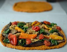 ... Sausage and Roasted Peppers Pizza on a Sweet Potato Crust #gluten free