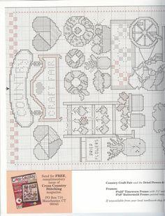 Schema punto croce Country Craft Fair 02