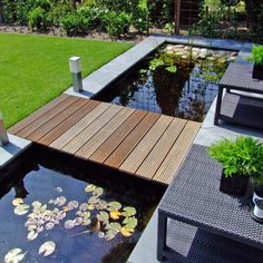 Outdoor Small Patio Pond Ideas Outdoor Small Patio Pond Ideas The post Outdoor Small Patio Pond Ideas appeared first on Tattowierung. Patio Pond, Small Backyard Patio, Ponds Backyard, Backyard Landscaping, Flagstone Patio, Patio Plants, Concrete Patio, Landscaping Ideas, Modern Backyard