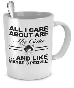 All I Care About Are My Cats 11oz Mug