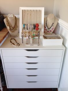 Necklace Jewelry Storage With Ikea Pax Pullout And Styrofoam