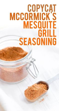 Mesquite Grill Seasoning Copycat McCormick's Mesquite Seasoning - means you can always have your favorite grill seasoning anytime!Copycat McCormick's Mesquite Seasoning - means you can always have your favorite grill seasoning anytime! Homemade Spices, Homemade Seasonings, Dry Rub Recipes, Spice Mixes, Spice Blends, Recipe Mix, Seasoning Mixes, Barbecue, Kitchen