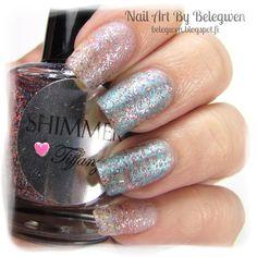 Nail Art by Belegwen: Shimmer Polish: Tiffany