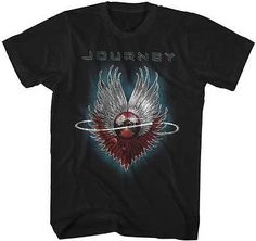 Journey Shirt Journey 4 Black Tee T-Shirt Journey Shirts Journey Shirt Journey 4 Black Tee T-Shirt This Journey Evolution Cover shirt comes in black Journey Albums, Journey Band, Journey Journey, Tour Merch, Best Quality T Shirts, Mens Tee Shirts, Order Prints, Printed Shirts, Graphic Tees