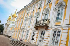 """The Peterhof Palace (Russian: Dutch for Peter's Court) is a series of palaces and gardens located in Petergof, Saint Petersburg, Russia, laid out on the orders of Peter the Great. These palaces and gardens are sometimes referred as the """"Russian Versailles"""". .Saint Petersburg, Russia"""