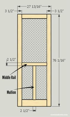 Shed DIY - Looking for screen door ideas? Build your own wooden DIY screen door with these plans - customize for your needs Now You Can Build ANY Shed In A Weekend Even If You've Zero Woodworking Experience! Wood Screen Door, Wooden Screen, Wood Doors, Screen Doors, Entry Doors, Screen Door Pantry, Front Entry, Popular Woodworking, Woodworking Projects