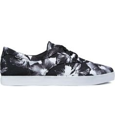 Black Floral HUF shoe