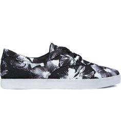 Black Floral HUF shoe