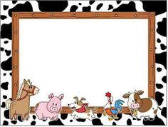 Borde animales de la granja