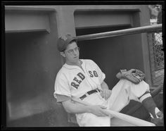 Dom DiMaggio relaxed and ready for the Cardinals, 1946 World Series.