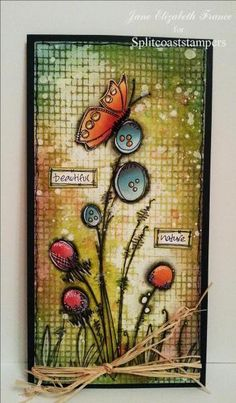 JOFY razítka / najdete zde: www. Mixed Media Journal, Mixed Media Canvas, Mixed Media Collage, Atc Cards, Card Tags, Flower Cards, Butterfly Cards, Art Doodle, Art Journal Pages