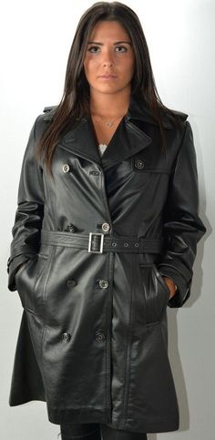 Trench Noir, Trench Coats, Royal Blue Outfits, Long Leather Coat, Raincoat, Womens Fashion, Sexy, Jackets, Sweet Dreams