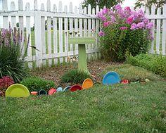 fiestaware in the garden