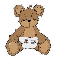 BABY TEDDY BEAR CLIP ART