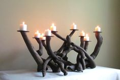 This driftwood candelabra is a stunning piece for any event or just to add that special touch to your table decor. Beautiful twists and turns of
