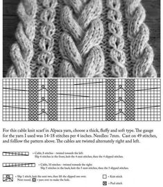31 new ideas for crochet scarf cable libraries Knitted Coat Pattern, Cable Knitting Patterns, Knitting Stiches, Knit Patterns, Baby Knitting, Crochet Scarf Easy, Crochet For Beginners Blanket, Knit Crochet, Crochet Hats