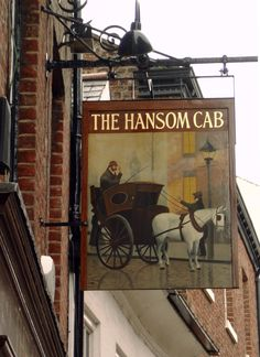 Pub sign The Hansom Cab, York, North Yorkshire, England photography by cityhopper2