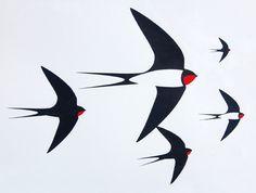 Paul Farrell - Flock of birds screen print //