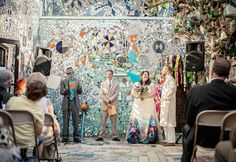 How much a wedding at Philadelphia's Magic Gardens will cost you, and other details to help you plan a wedding at this funky art museum. Garden Wedding, Our Wedding, Wedding Venues, Wedding Decor, Salvador Dali Paintings, Philadelphia Magic Gardens, Dubai Garden, Garden Statues, Gardening For Beginners