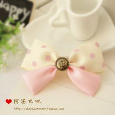 princess sweet lolita hair bow Handmade bow hairpin headband brooch polka dot popular hair accessory a0029 #Affiliate