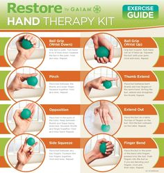 Amazon.com : Gaiam Restore Hand Therapy Exercise Ball Kit : Stress Ball : Sports & Outdoors