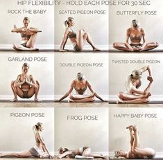 Yoga Poses & Workout : Better make this a routine everyday to have a good foundation in your hips and m