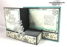 Stamps-N-Lingers.  Flurry of Wishes, This Christmas DSP, Snow Flurry Punch, Christmas Stockings Thinlits. https://stampsnlingers.com/2016/11/27/stampin-up-flurry-of-wishes-z-box-fold-christmas-card/