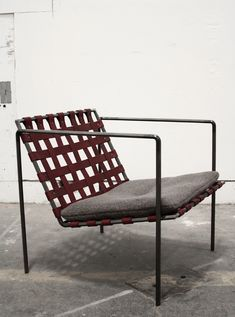Leather and steel chair. I'd swap out the cushion with a folded wool blanket. rodweave3_lowres