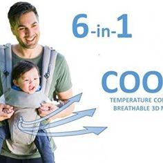 e9d8ebd47cf 360 Ergonomic Baby Carrier - All Season Baby Sling - 6 Position