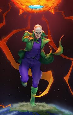 All-Star Superman Lex Luthor by yifanjiang Comic Villains, Comic Book Characters, Comic Books Art, All Star Superman, Batman, Dc Comics, Legion Of Superheroes, Lex Luthor, Comics Universe