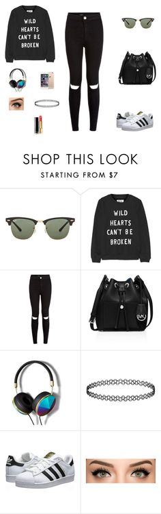 """Untitled #53"" by hibaxoxo ❤ liked on Polyvore featuring Ray-Ban, Zoe Karssen, MICHAEL Michael Kors, Abercrombie & Fitch, adidas Originals and Chanel"