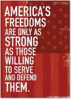 Strong Freedoms - Patriot Day Cards from Treat.com #America #freedom #soldier