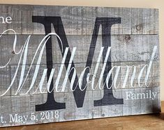 Last Name Sign. Family Name Sign. Last Name Wall Art. Last Name Wood Sign. Last Name Wood Sign, Last Name Signs, Family Name Signs, Wooden Family Name Sign, Painted Wood Signs, Custom Wood Signs, Wooden Signs, Family Name Established, Monogram Signs