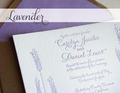 lavender wedding invitations - Google Search