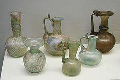 Cristaleria encontrada en Pompeya-Italia