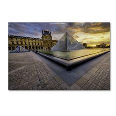 Mathieu Rivrin 'Geometry of the Louvre Museum' Art